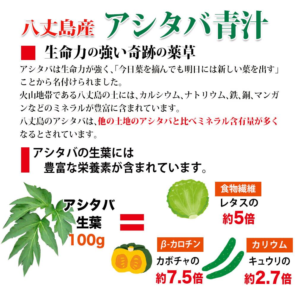 生命力の強い奇跡の薬草アシタバの生葉には豊富な栄養素が含まれています。
