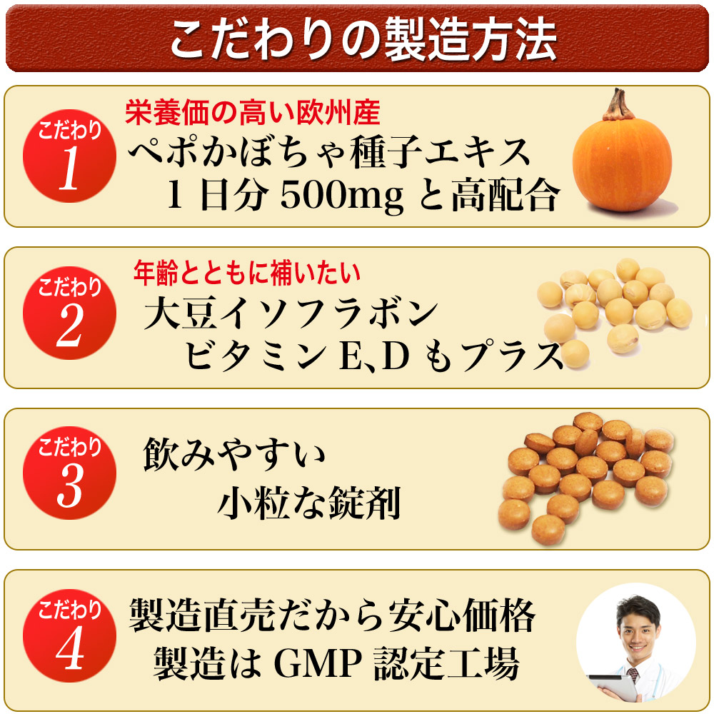 こだわりの製造:厳しい審査基準のGMP(健康食品の製造のための品質基準)取得の最新の工場で行っています。